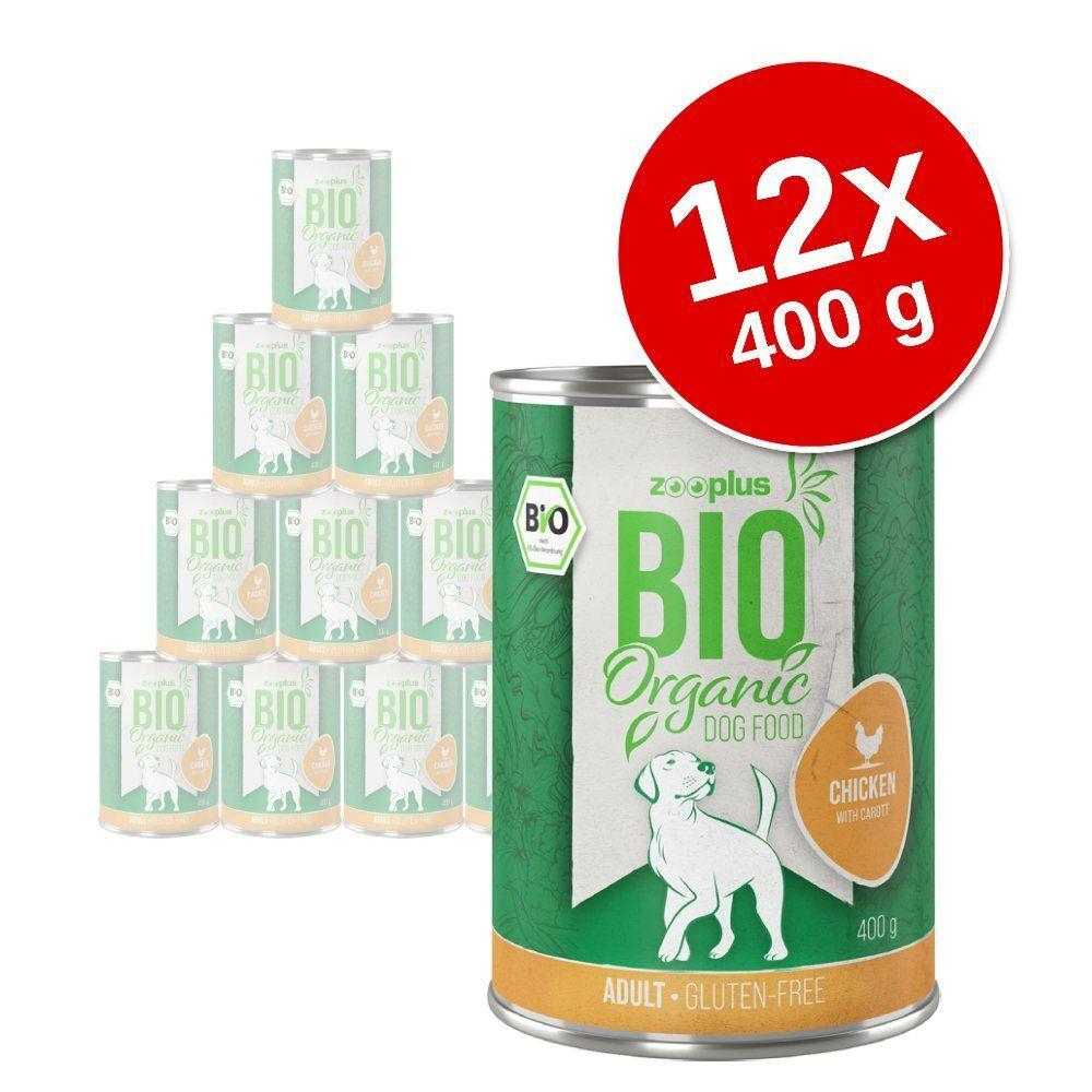 zooplus Bio 12x400g Senior poulet, potiron - Nourriture pour chien