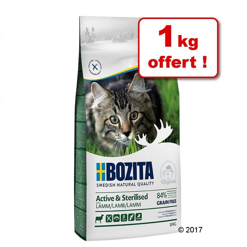 Bozita 9kg sans céréales Active & Sterilised agneau Bozita Croquettes pour chat + 1kg offert!