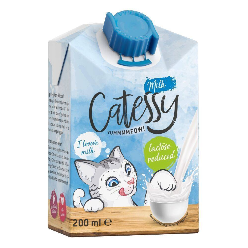 Catessy 12x200mL Lait Catessy - Friandises pour chat