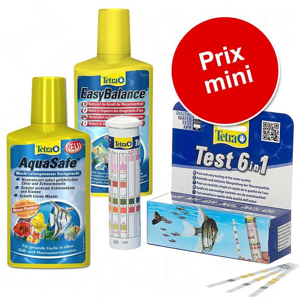 Tetra Kit Tetra d'entretien et test de l'eau pour aquarium - 2 x 500 mL + 25 bandelettes