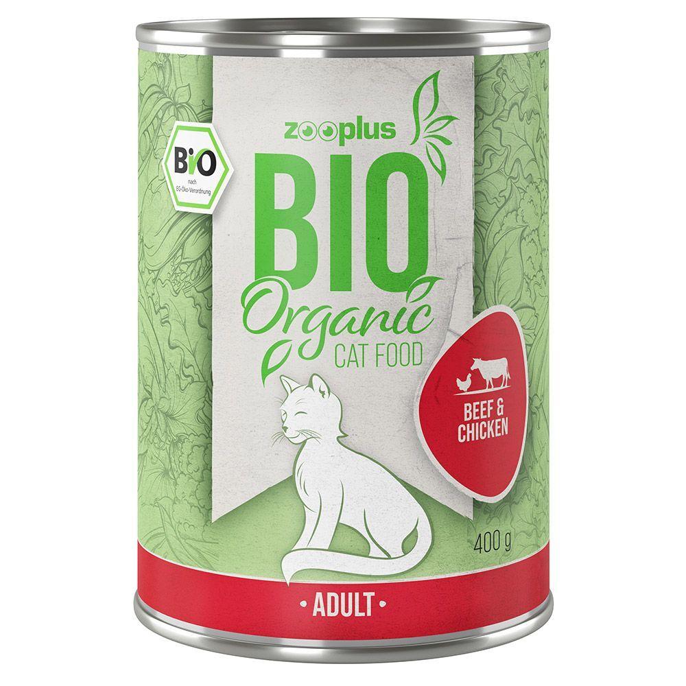 zooplus Bio bœuf, poulet pour chat 6 x 400 g