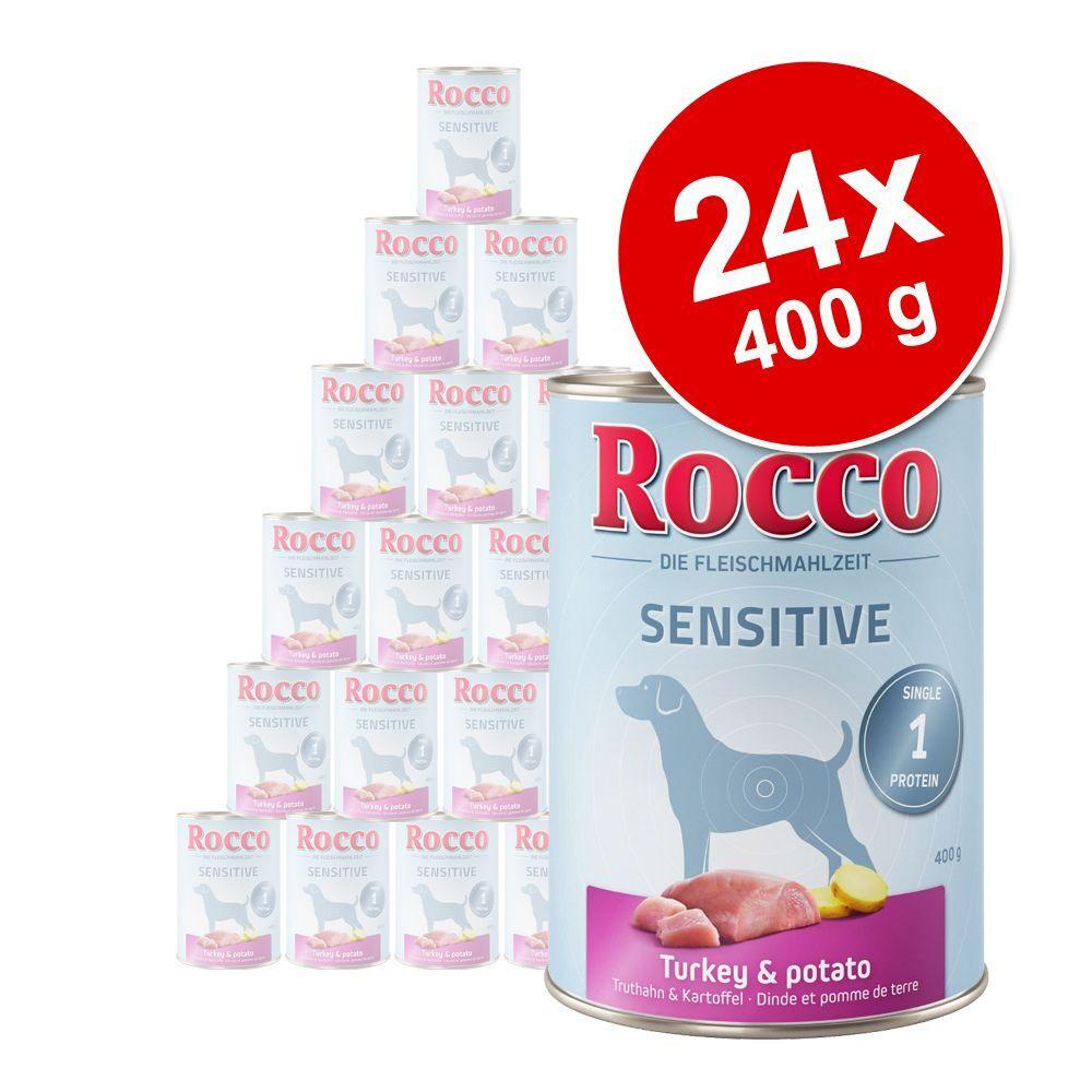 Rocco 24x400g Sensitive gibier, pâtes Rocco - Nourriture pour chien