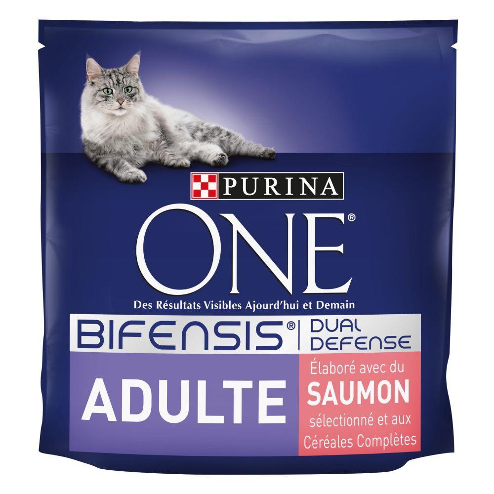 Purina One 9,75kg Adulte saumon, céréales complètes Purina One - Croquettes pour chat