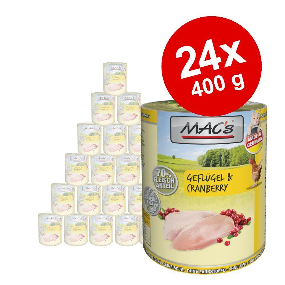 MAC's 24x400g MAC's saumon, poulet - Pâtée pour chat