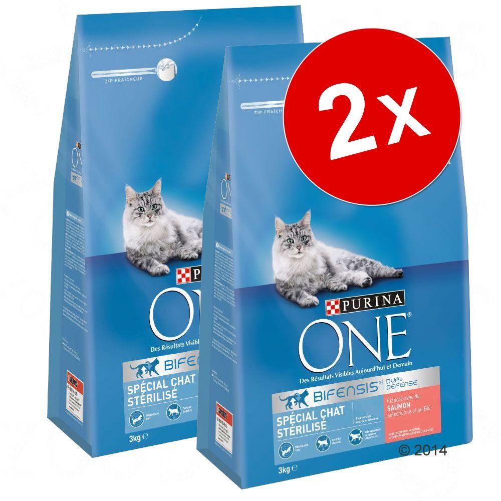Purina One 2x9,75kg Adulte saumon, céréales complètes Purina One - Croquettes pour chat