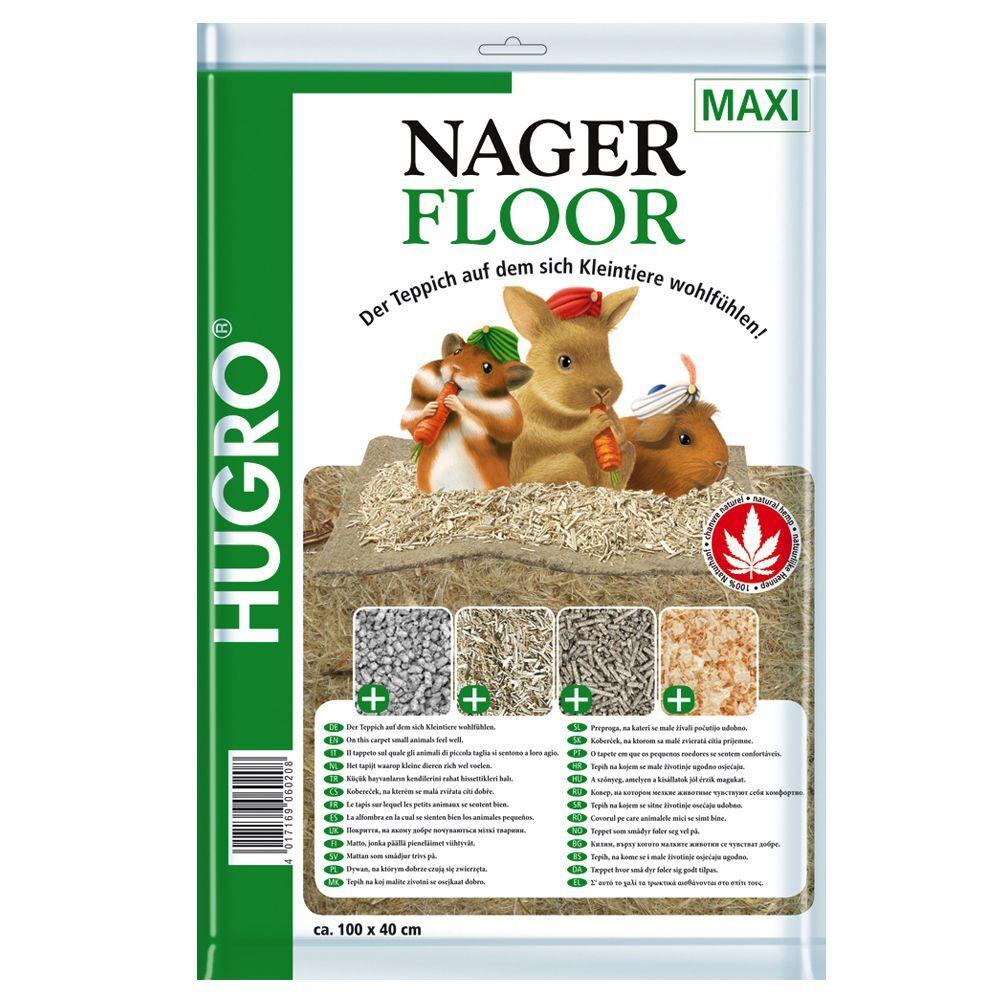 Hugro Tapis de chanvre Nagerfloor pour rongeur L 50 x l 120 cm