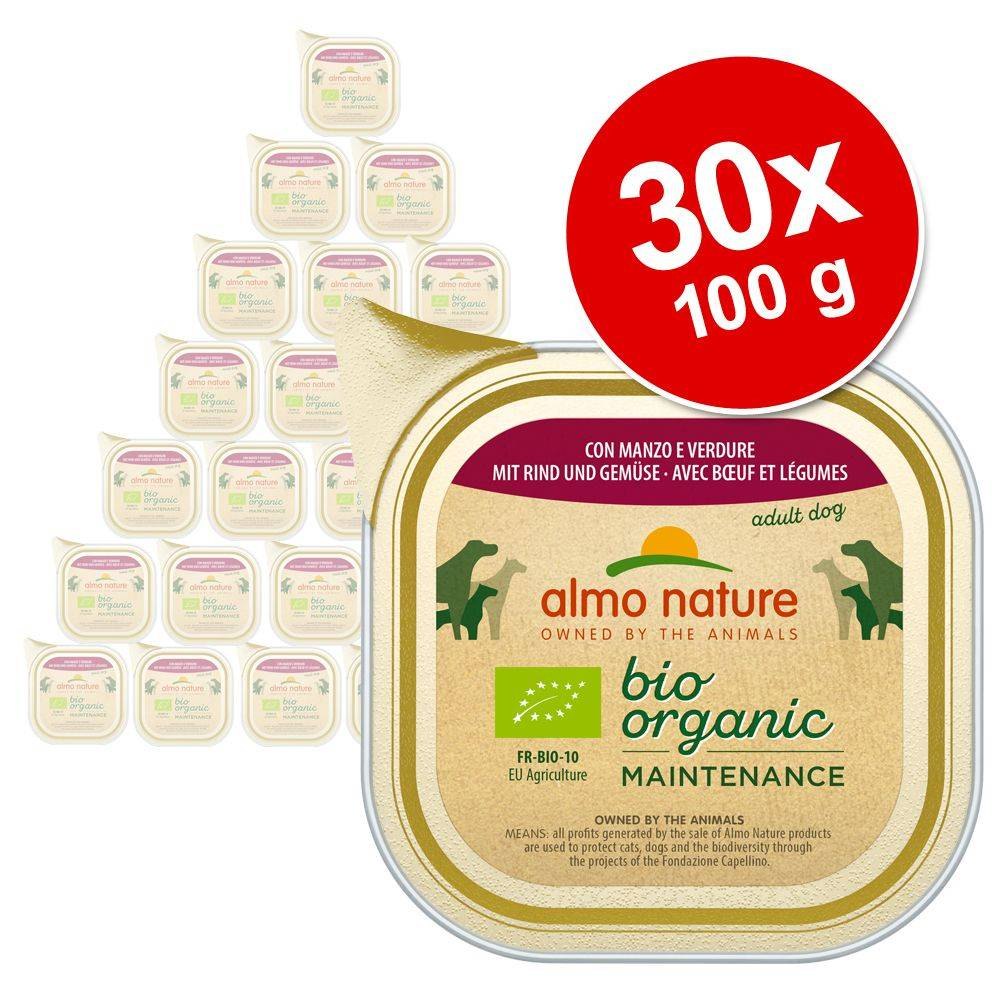 Almo Nature Daily Menu 30x100g poulet, légumes Almo Nature Daily Menu Bio - Nourriture pour chien