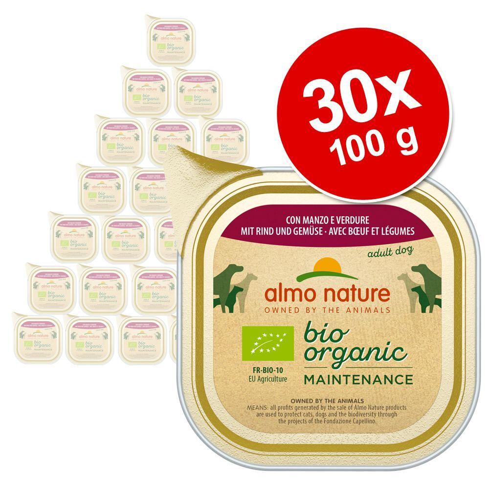 Almo Nature Daily Menu 30x100g bœuf, légumes Almo Nature Daily Menu Bio - Nourriture pour chien