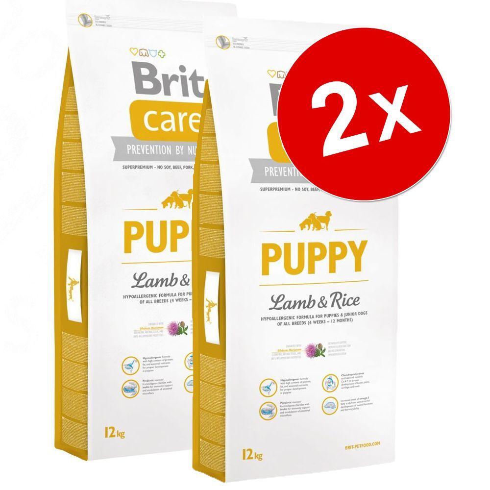 Brit Care 2x12kg Brit Care Junior Large Breed agneau, riz - Croquettes pour chien