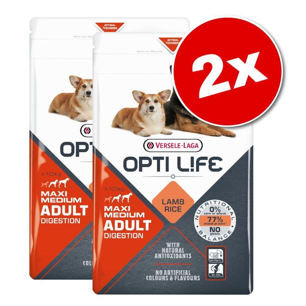 Opti Life 2x12,5kg Opti Life Adult Skin Care Medium & Maxi - Croquettes pour chien