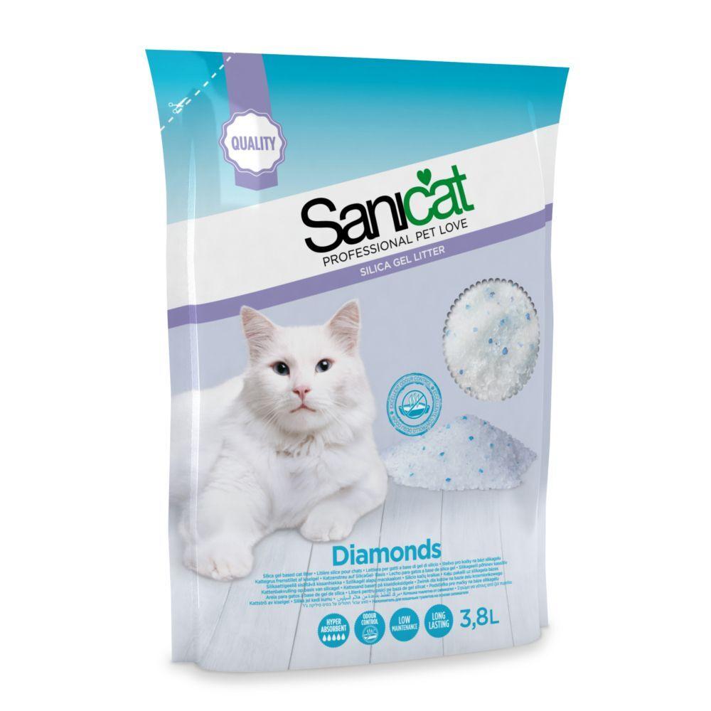 Sanicat 5L Litière Sanicat Diamonds - pour chat