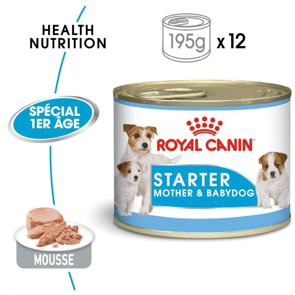 Royal Canin Size 24x195g Starter Mousse Mother & Babydog Royal Canin Size - Pâtée pour chien