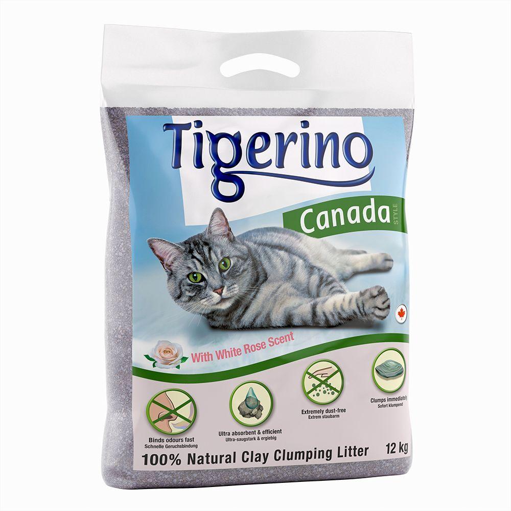 Tigerino 12kg Canada senteur roses blanches Tigerino - Litière pour Chat