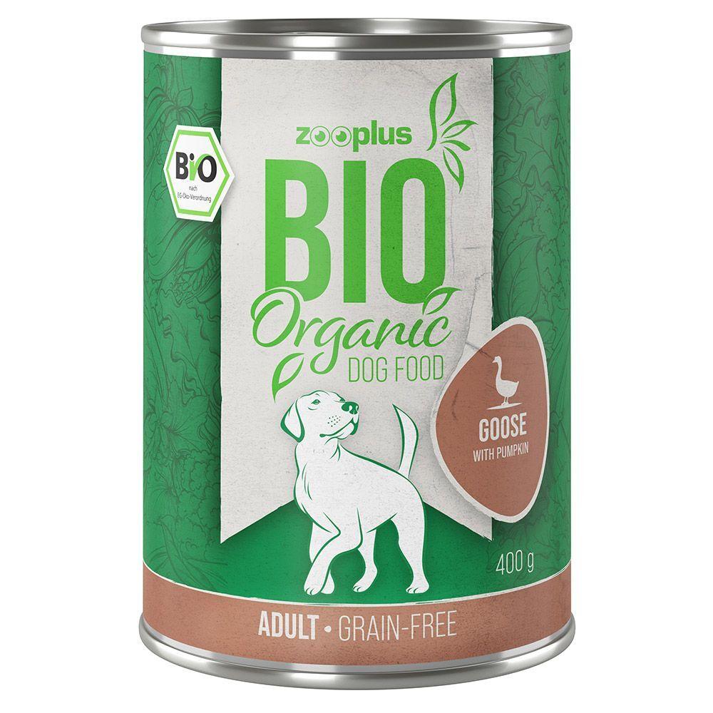 zooplus Bio 6x400g zooplus Bio oie, potiron - Pâtée pour chien