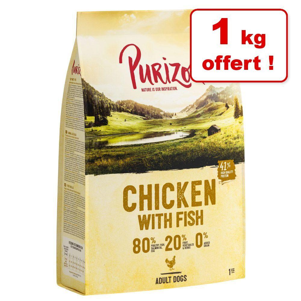 Purizon Croquettes Purizon pour chien 4 kg + 1 kg offert ! - Single Meat Adult saumon, épinards