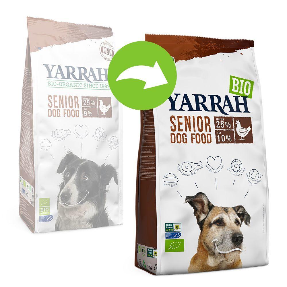 Yarrah Bio Senior, poulet pour chien - 2 x 10 kg