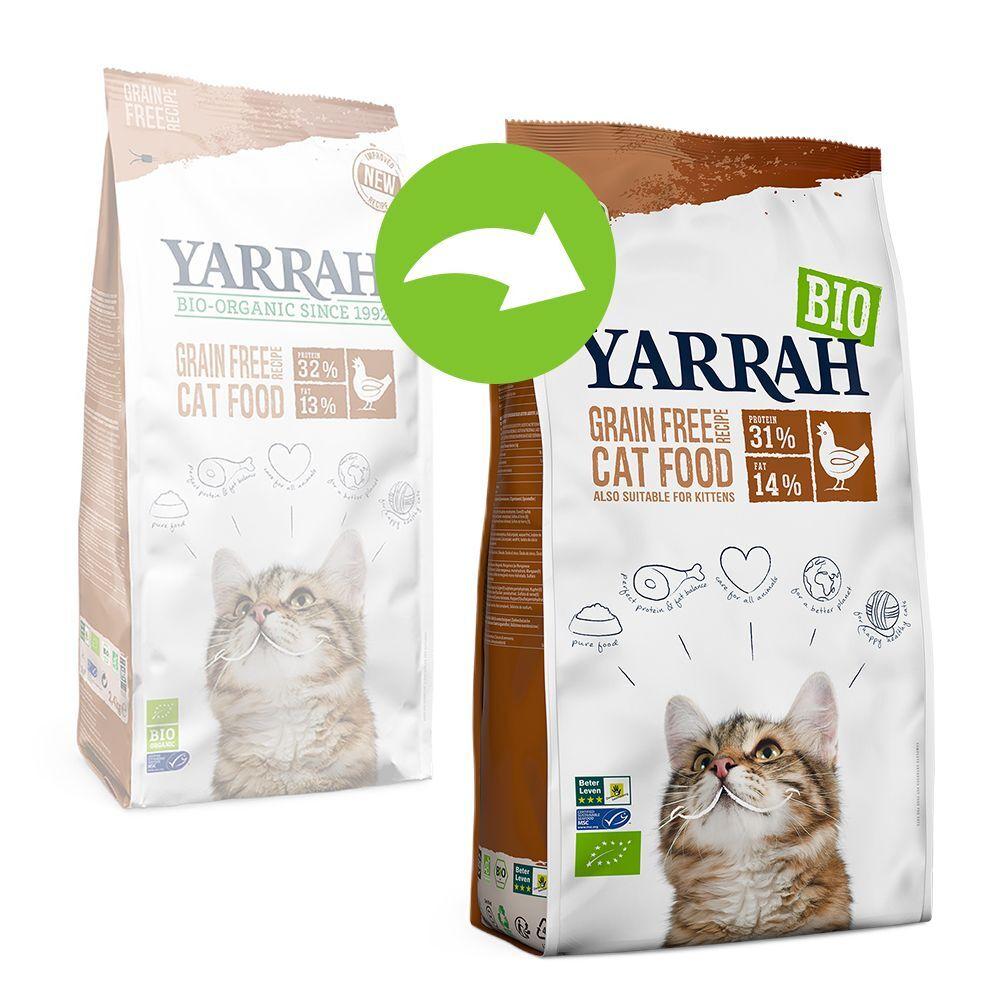 Yarrah Bio poulet bio, poisson sans céréales pour chat - 2 x 2,4 kg