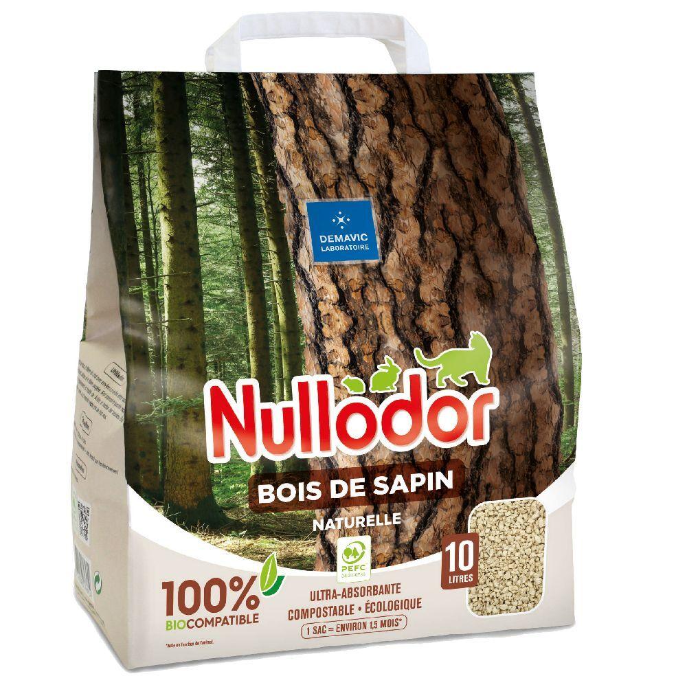 Nullodor 2x10L Litière Nullodor Bois De Sapin - pour chat