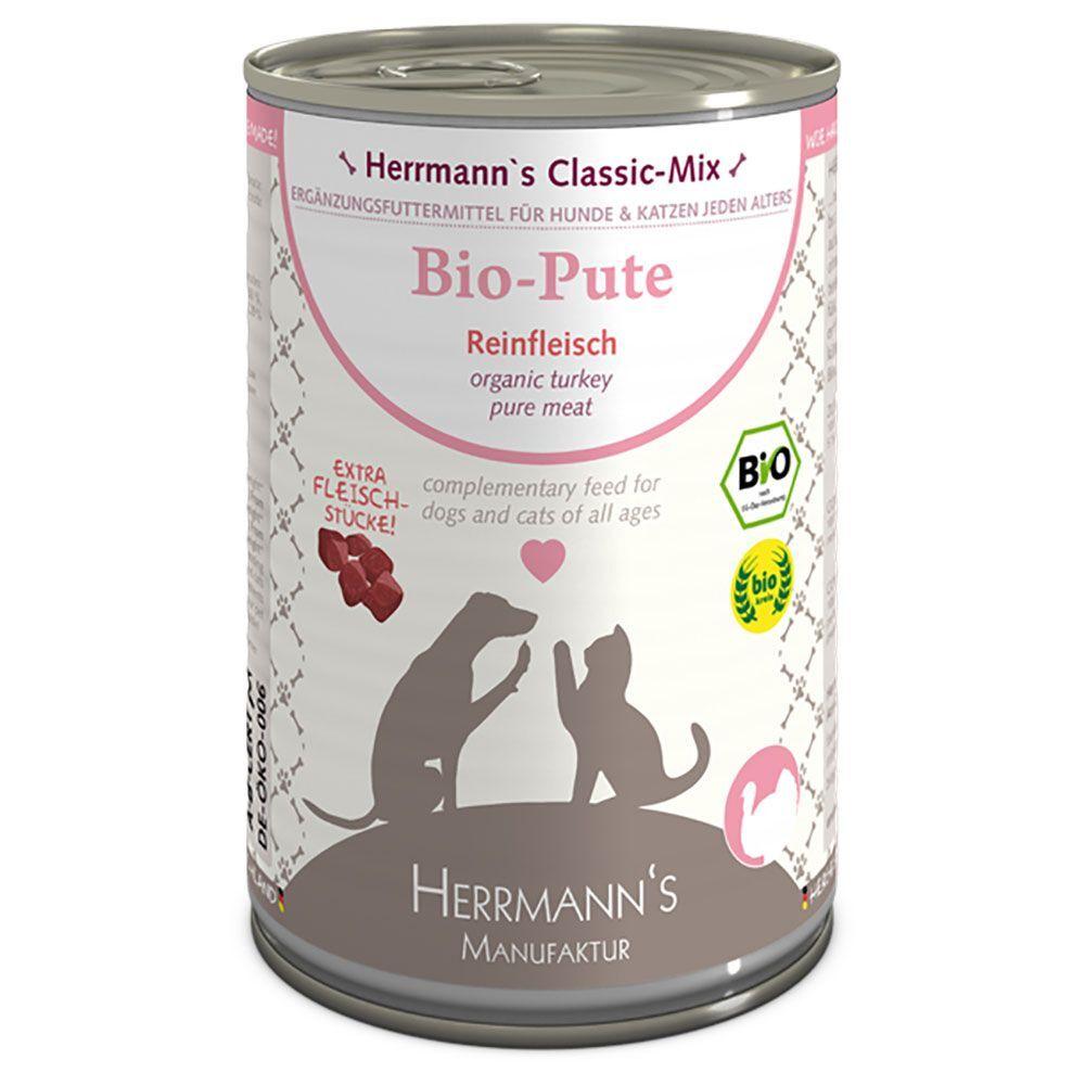 Herrmanns 6x400g Herrmann's Pure Viande pur canard bio - Pâtée pour chien