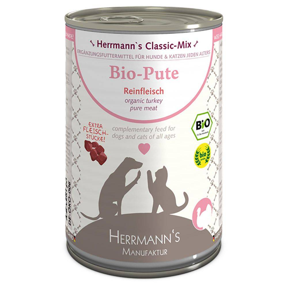 Herrmanns 6x400g pur bœuf bio Herrmann's - Nourriture pour chien