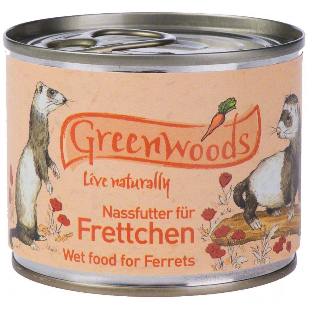 Greenwoods Small Animals 6x200g Greenwoods furet - Nourriture furet