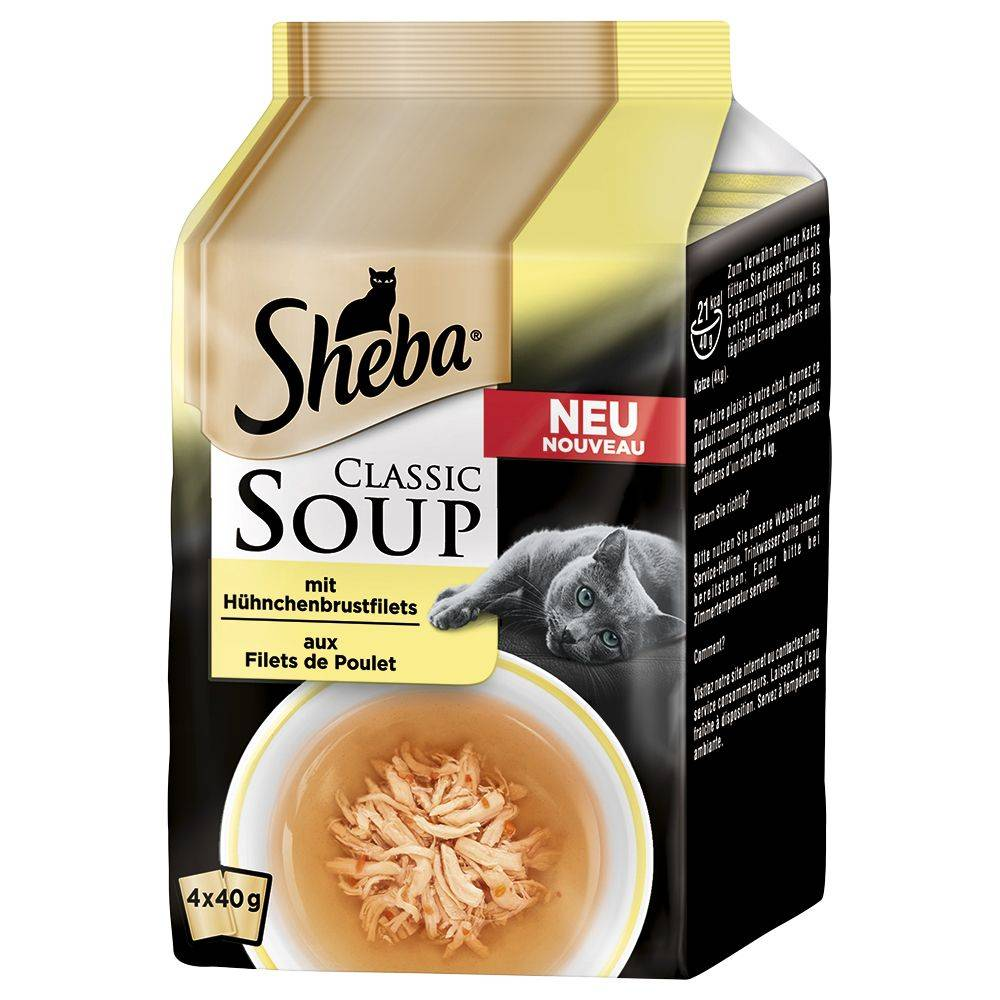 Sheba 16x40g Classic Soup filets de poulet Sheba - Nourriture pour Chat