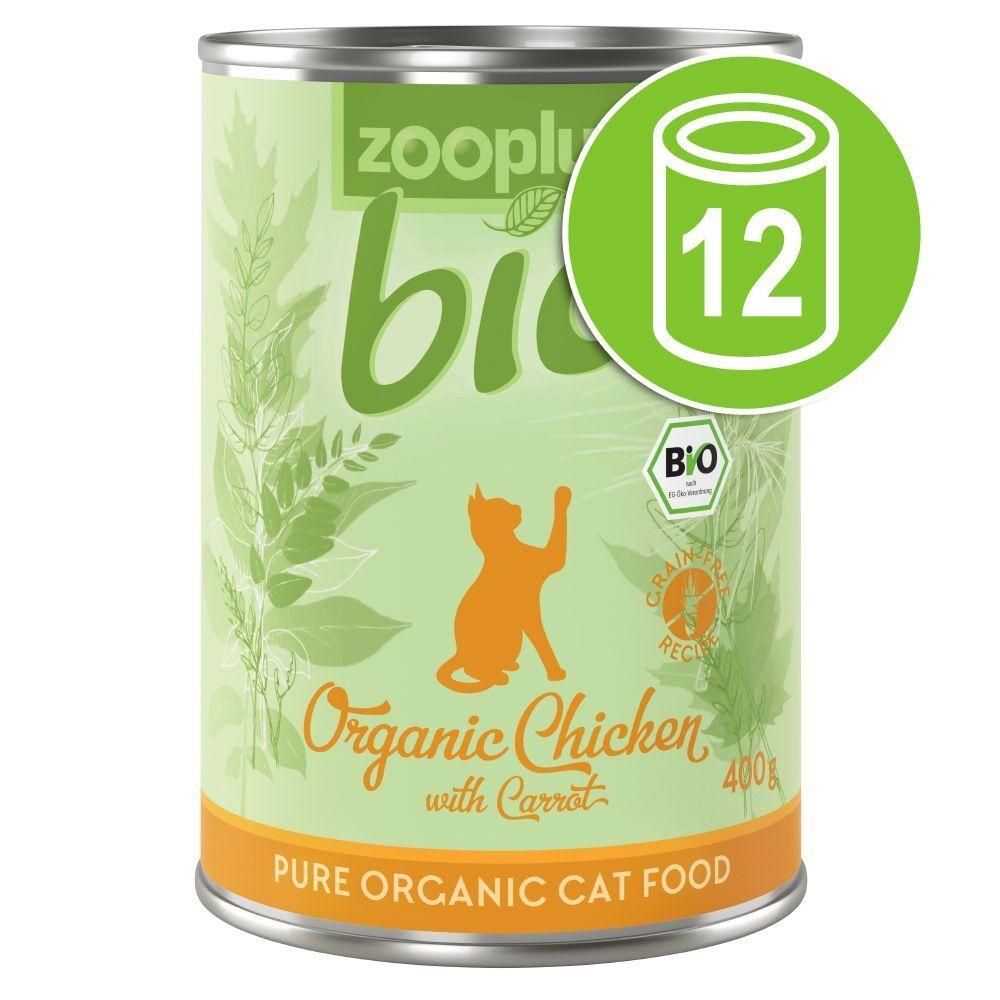 zooplus Bio 12x400g zooplus Bio canard, courgette - Pâtée pour chat