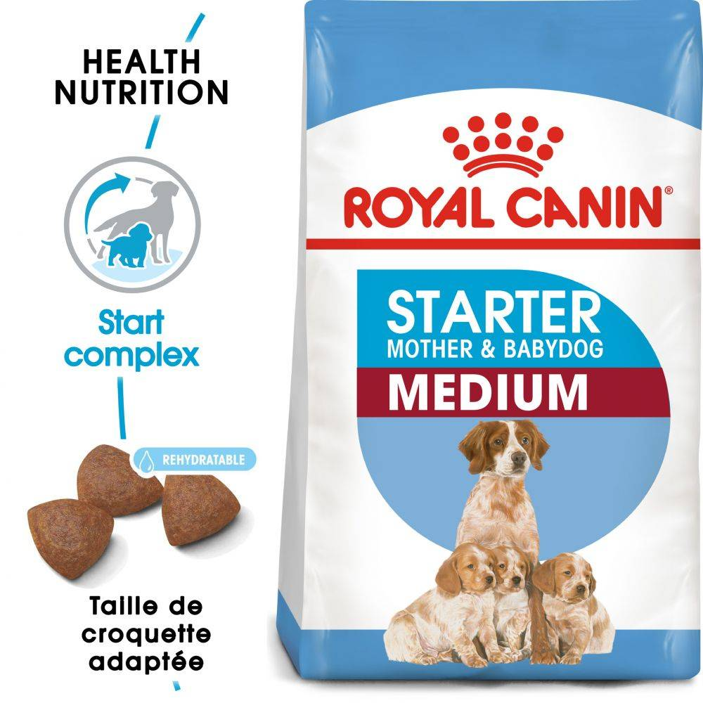 Royal Canin Size 2x12kg Medium Starter Mother & Babydog Royal Canin - Croquettes pour chiot