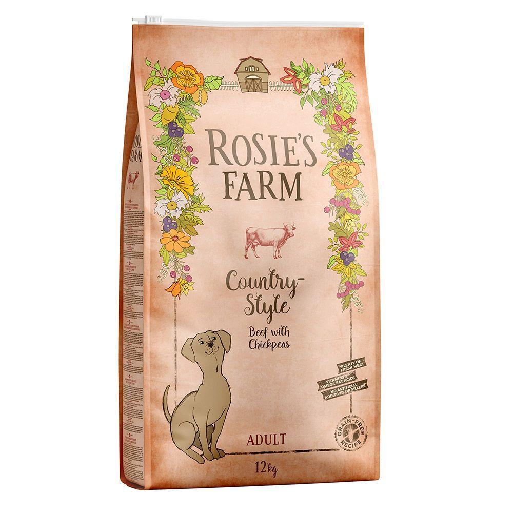Rosie's Farm bœuf, patates douces, pois chiches pour chien - 2 x 12 kg