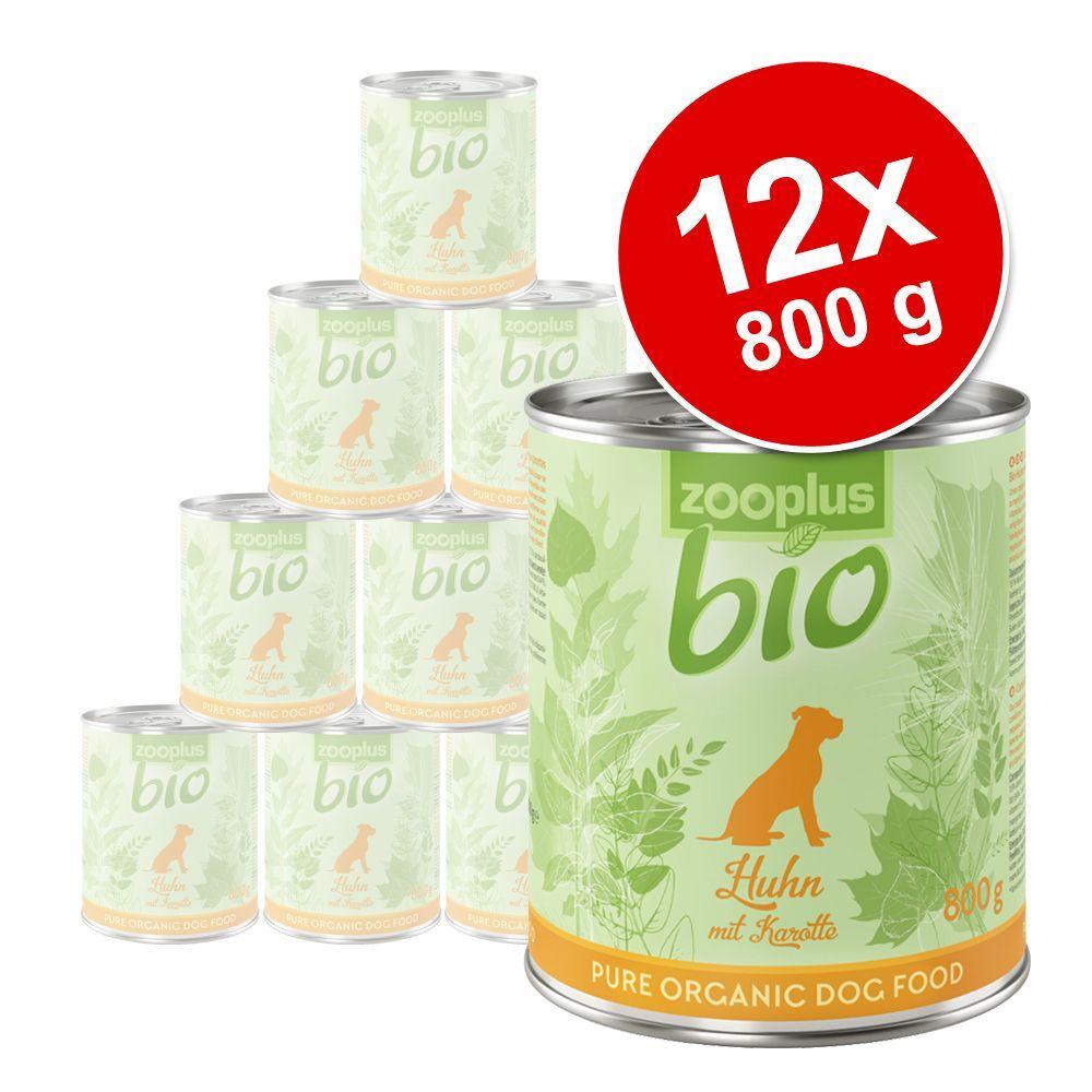 zooplus Bio 12x800g zooplus bio poulet, carottes - Pâtée pour chien