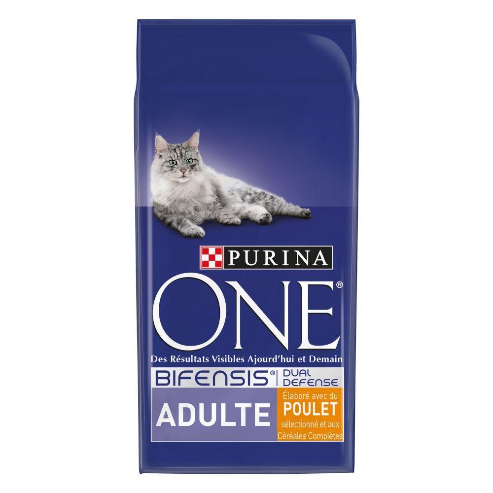 Purina One 2x3kg Adulte poulet céréales complètes PURINA ONE - Croquettes pour chat