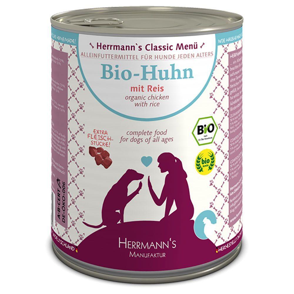 Herrmanns 6x800g Classic bœuf bio, sarrasin, fruits (sans gluten) Herrmann's - Nourriture pour chien