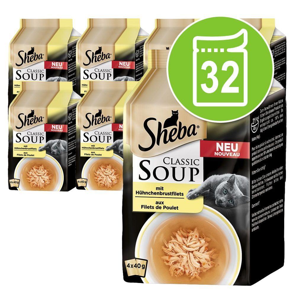 Sheba 32x40g Classic Soup filets de poulet Sheba - Nourriture pour Chat