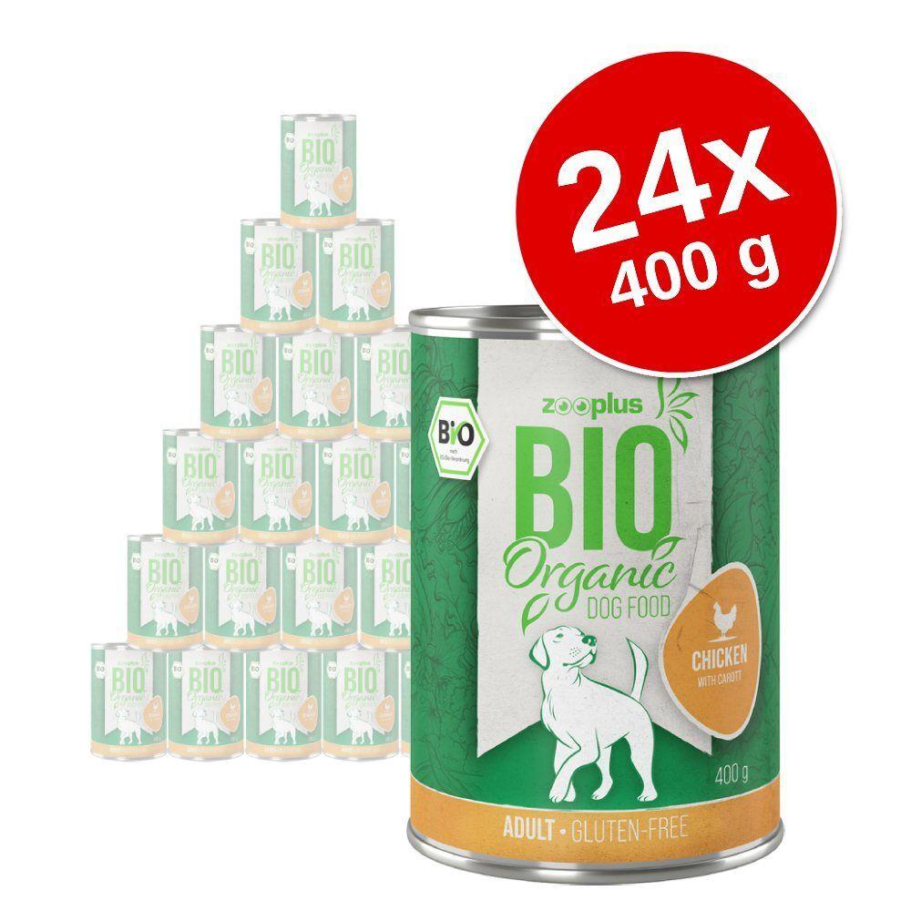zooplus Bio 24x400g poulet, carottes zooplus bio - Nourriture pour chien