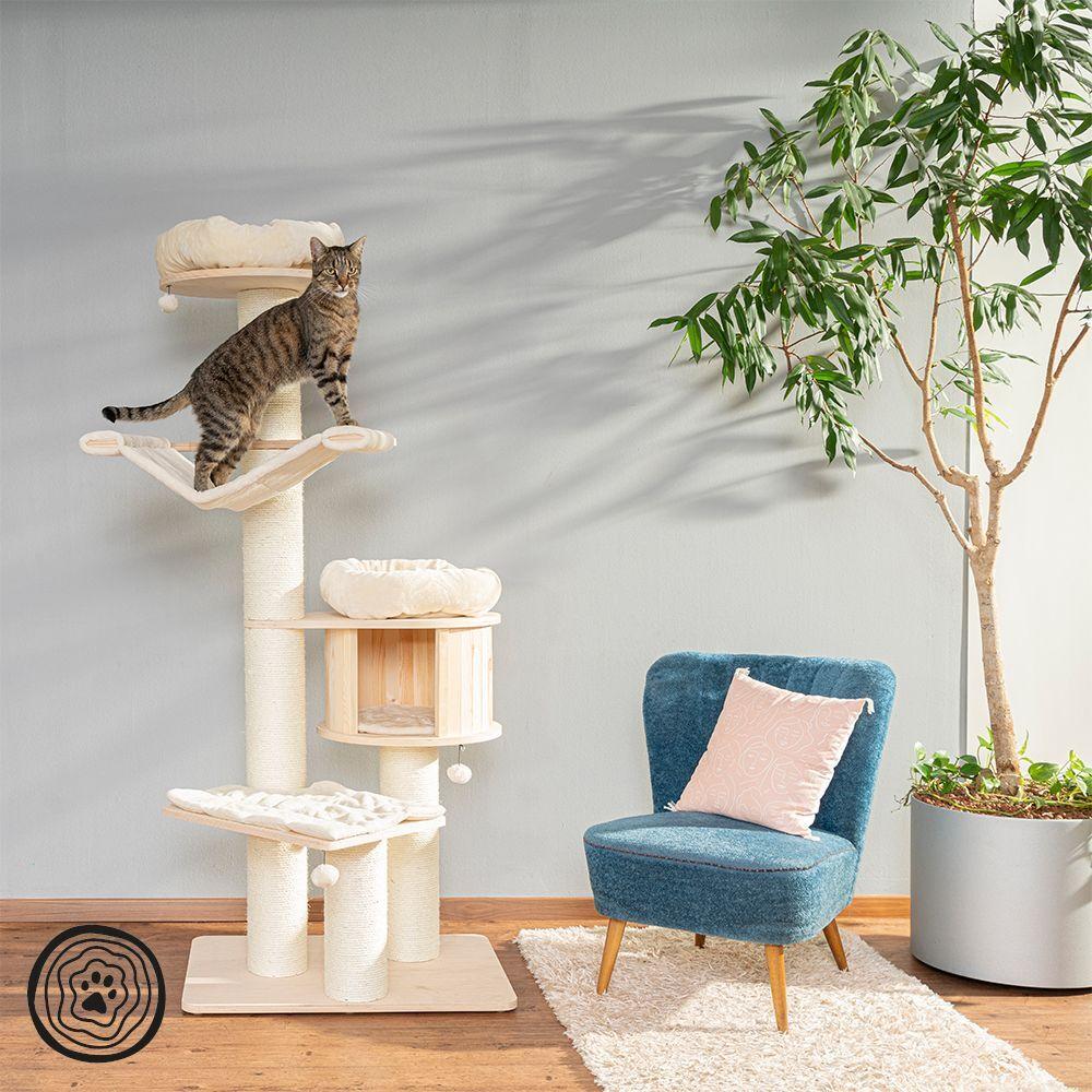 Natural Paradise Arbre à chat Natural Paradise XL Édition Premium bordeaux