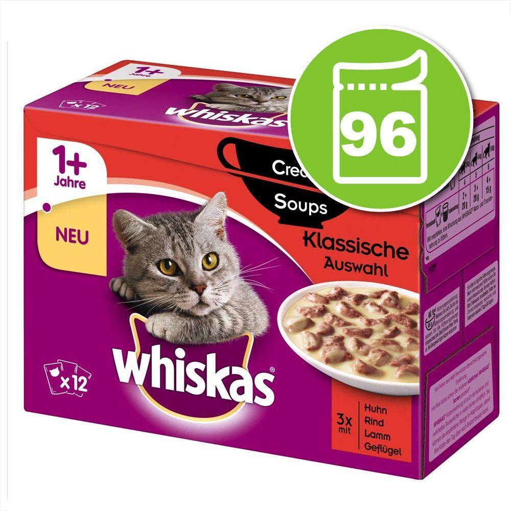 Whiskas 12x85g Whiskas 1+ Creamy Soup bœuf, agneau, poulet, dinde - Nourriture pour Chat