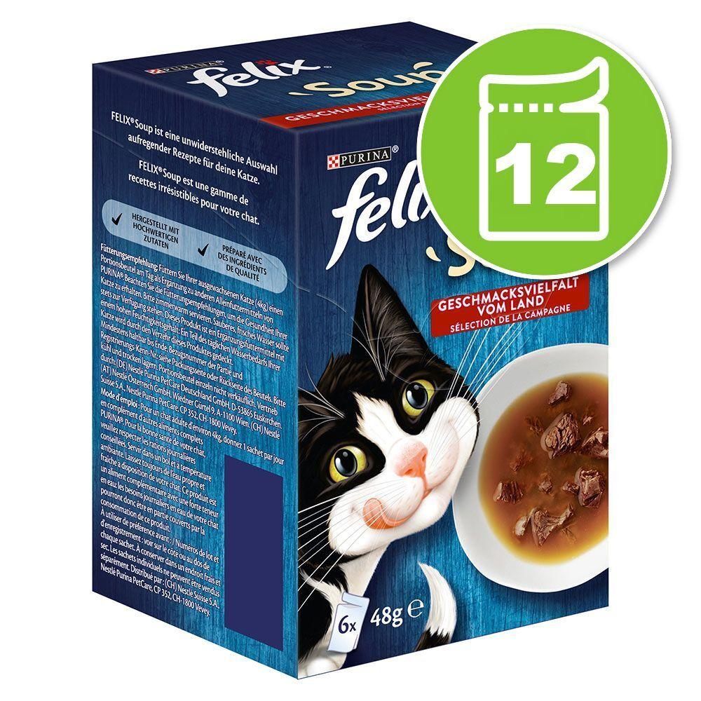 Felix 12x48g Felix Soup sélection de la campagne - Pâtée pour chat