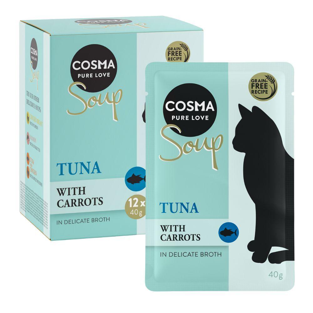 Cosma 12x40g Cosma Soup saumon, courgette - Pâtée pour chat