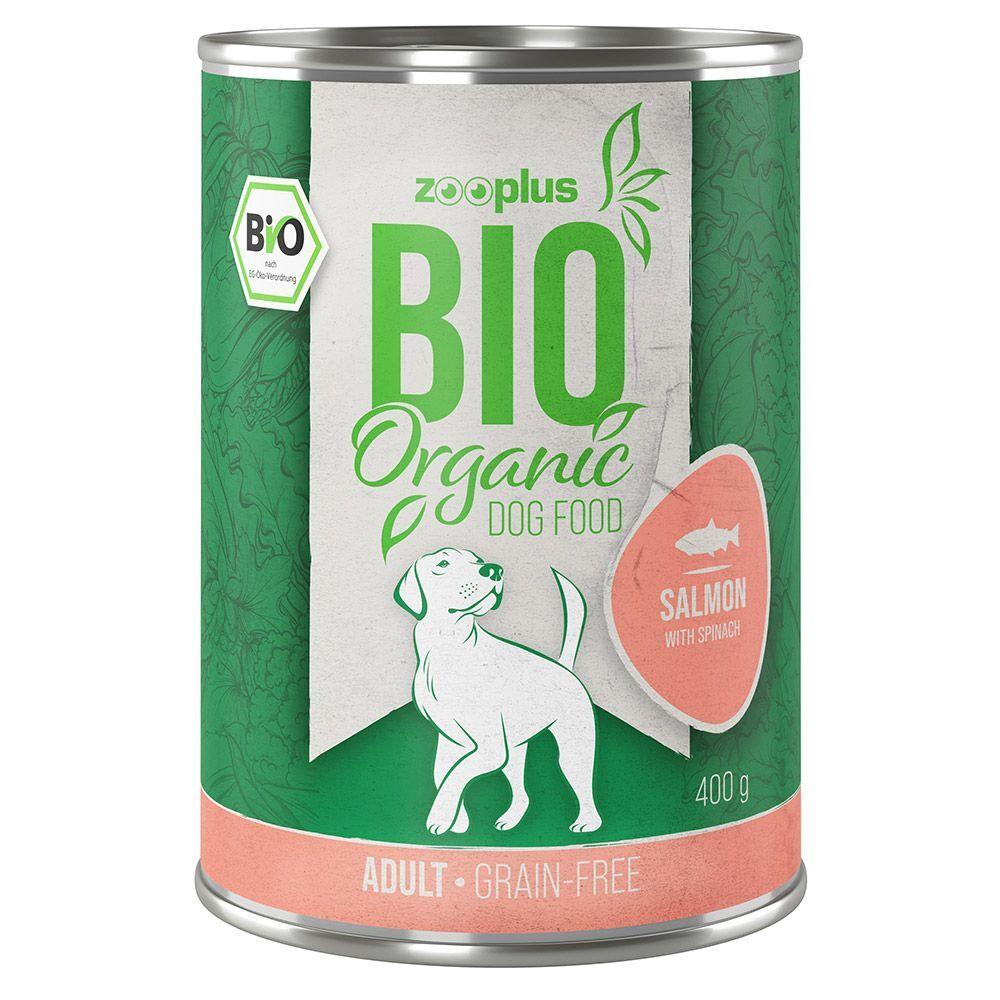 zooplus Bio 6x400g zooplus Bio saumon, épinards - Pâtée pour chien