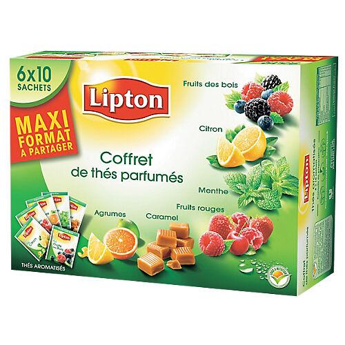 Lipton Coffret thé aromatisé Assortiment Lipton 60 Unités