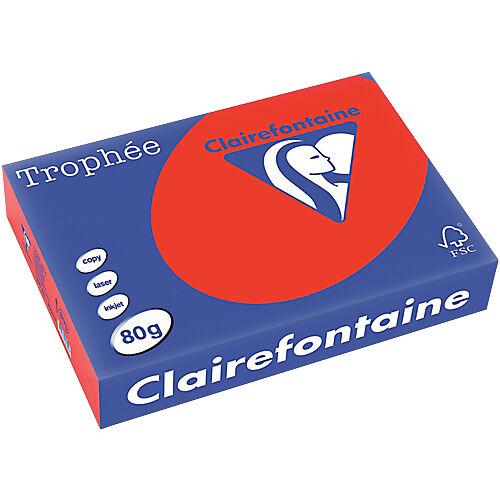 Clairefontaine Papier couleur Clairefontaine A4 80 g/m² Rouge Trophee - 500 Feuilles