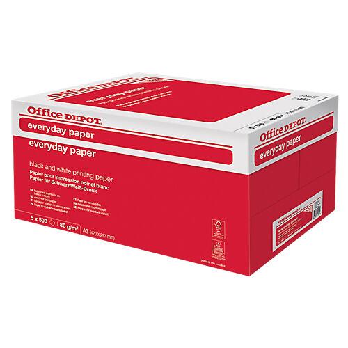 Office Depot Papier Office Depot A3 80 g/m² Blanc Everyday - 5 Unités de 500 Feuilles