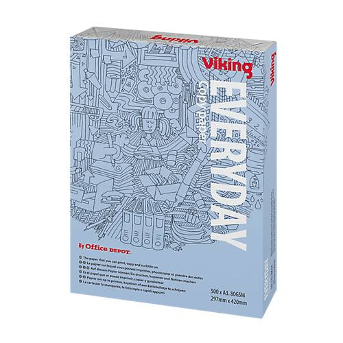 Viking Papier Viking A3 80 g/m² Blanc Everyday - 500 Feuilles