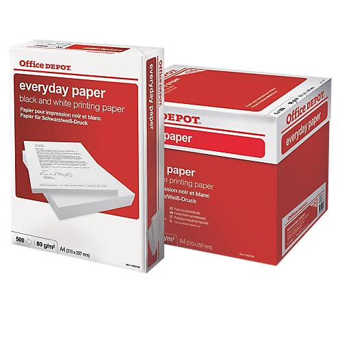 Office Depot Papier Office Depot A4 80 g/m² Blanc Everyday - 5 Paquets de 500 Feuilles