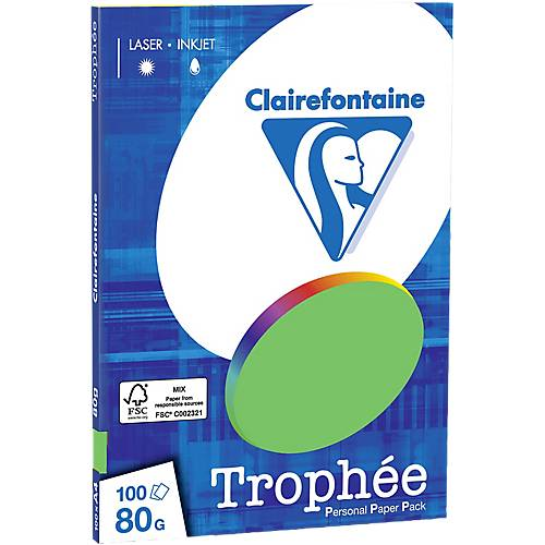 Clairefontaine Papier Clairefontaine A4 80 g/m² menthe 4115C - 100 Feuilles
