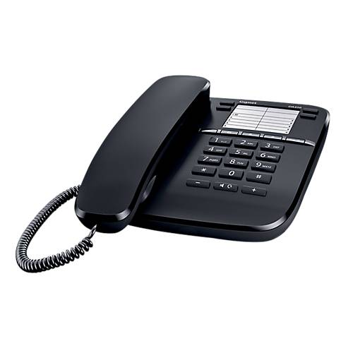 Gigaset Téléphone Filaire Non Gigaset DA410 Blanc  noir
