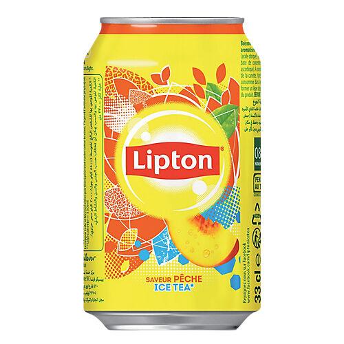 Lipton Thé glacé Lipton Pêche Canette - 24 Unités de 330 ml