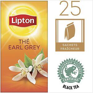 Lipton Sachets de thé noir Earl Grey Lipton 25 Unités de 2 g