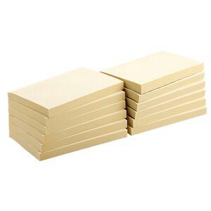 Office Depot Notes adhésives Office Depot 127 x 76 mm Jaune - 12 Unités de 100 Feuilles