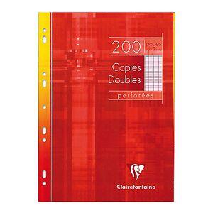 Clairefontaine Copies doubles perforées grands carreaux Clairefontaine A4 4916 200 Pages - 100 Feuilles - Publicité